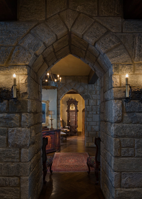 Gothic Castle In The Blue Ridge Mountains Traditional Hall