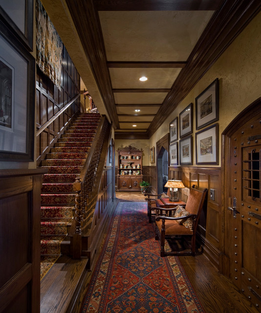 New Home Interior Design Traditional Hallway: Gothic Castle In The Blue Ridge Mountains