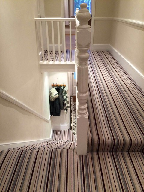 Grape Amp Grey Stripe Stair And Hallway Carpet