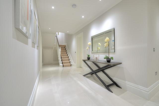 hallway landing micron white polished contemporary