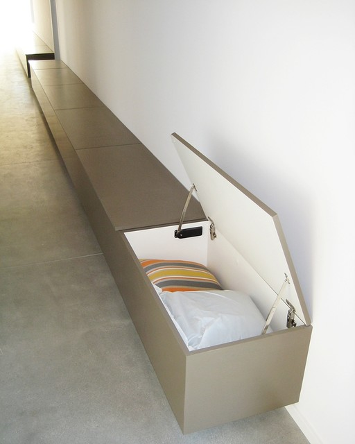 Modern Foyer Storage : Hallway bench seats with storage modern hall los