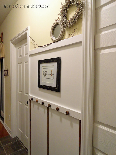 Hallway Board and Batten - Rustic - Hall - detroit - by Rustic Crafts ...
