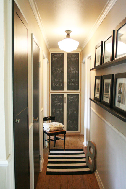 Hallway Cabinet Makeover - Traditional - Hall - los angeles - by Jennifer Grey Interiors