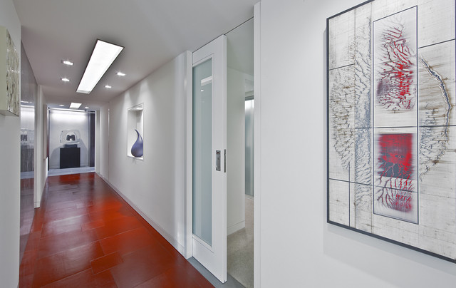 Garret Cord Werner Architects Interior Designers Building Hallway Entry Contemporary Hall