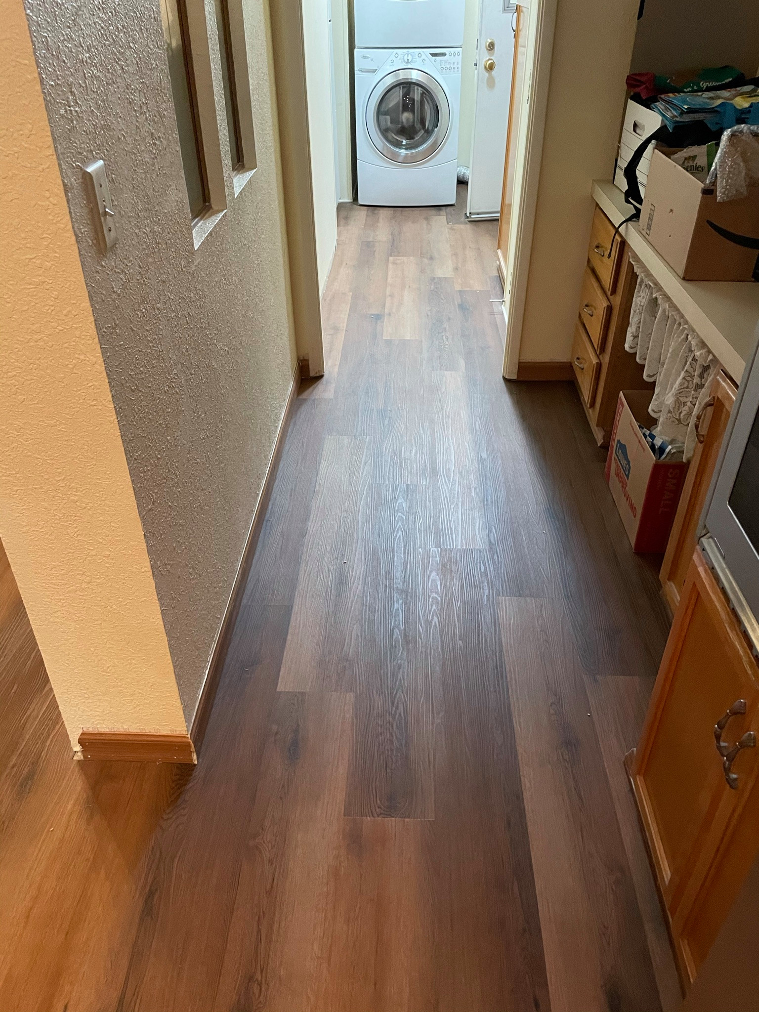 Hallway Leading to Laundry Room