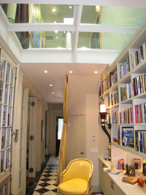 Hallway Library. Entrance and Glass ceiling. - modern - hall - san ...