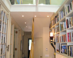 Hallway Library. Entrance and Glass ceiling. eclectic hall