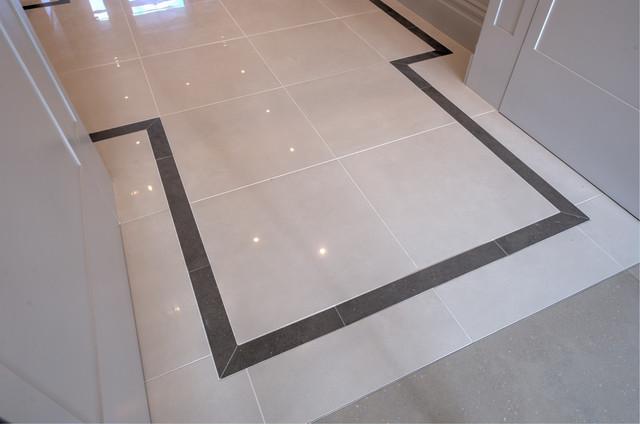 Hallway Micron White Polished amp Conproj Dark Grey Border