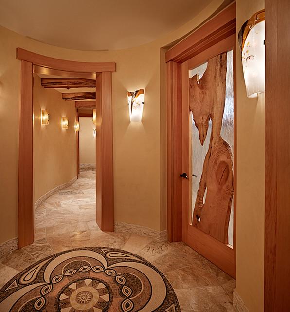 Hallway of Cedar Haven Home contemporary-hall