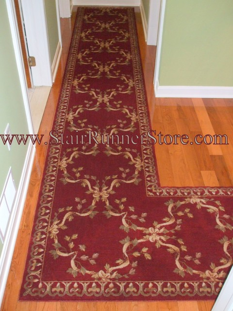 Hallway runner installations eclectic hall new york by the stair runner store creative - L shaped rugs kitchens ...