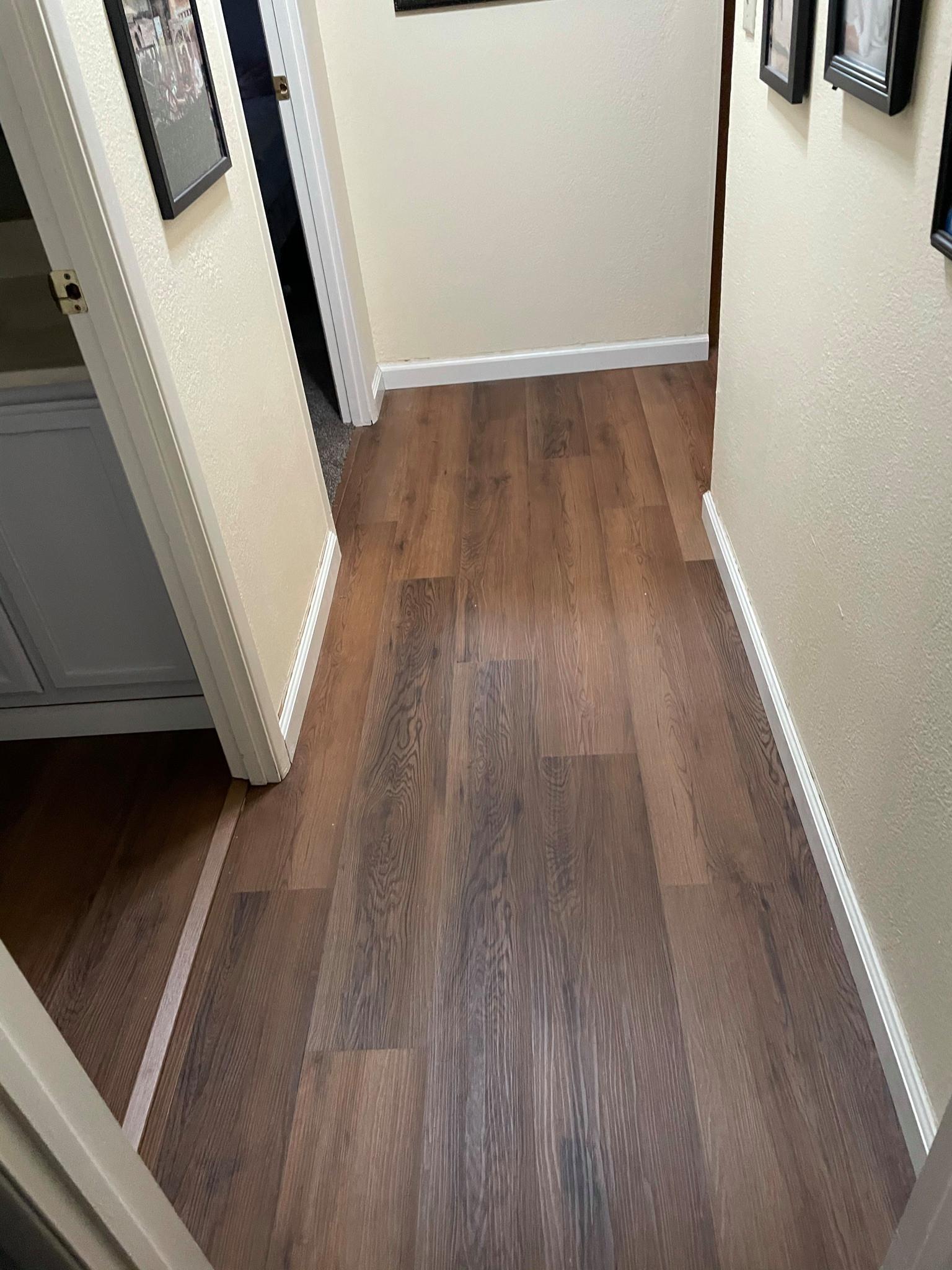 Hallway w/ Luxury Vinyl Plank