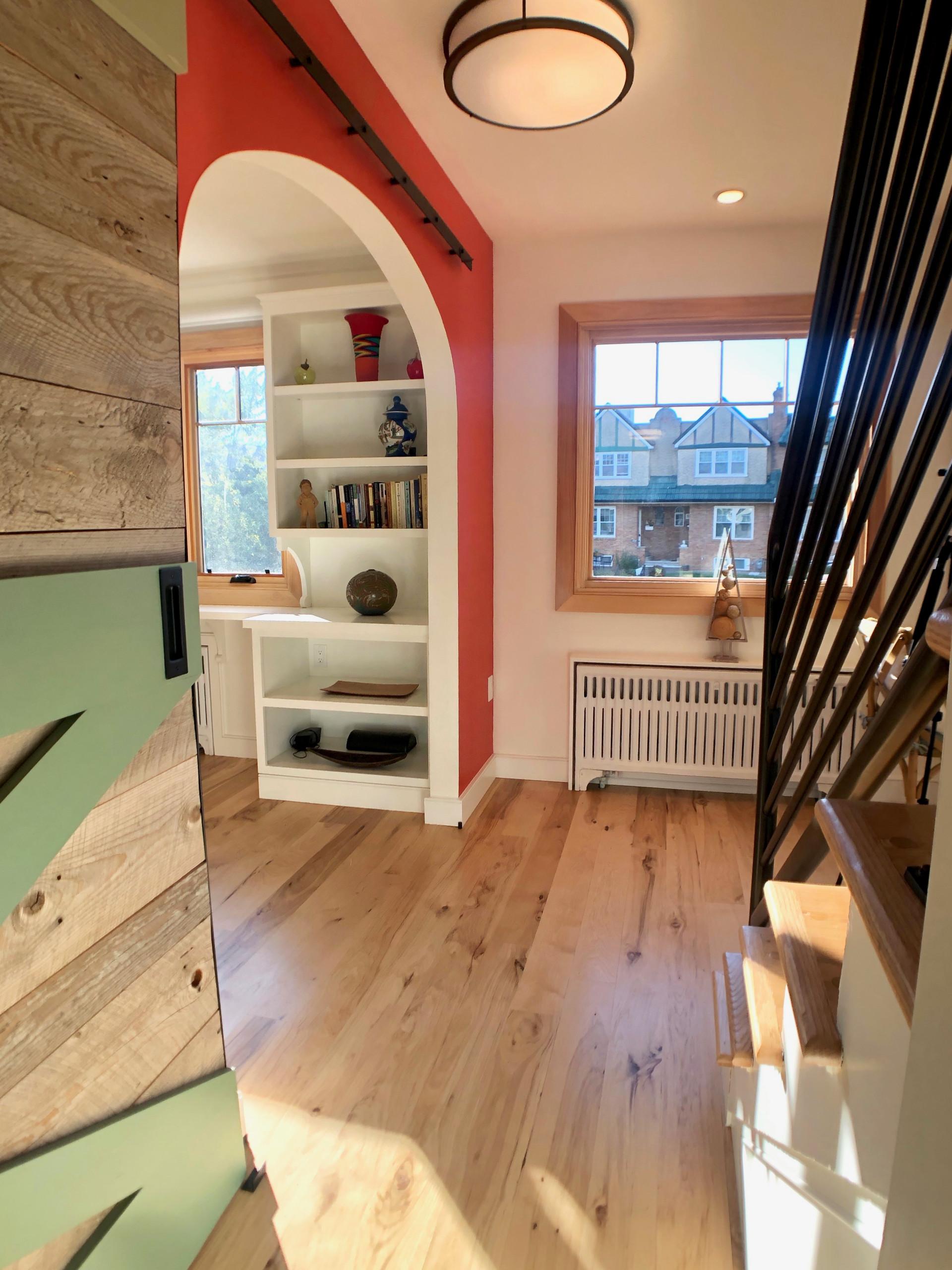 Hallway with Barn Doors
