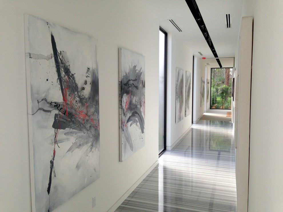 Inspiration for a contemporary hallway remodel in Miami