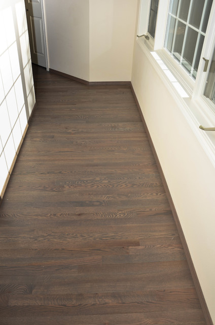 Hardwood Flooring Traditional Red Oak With Clic Grey Stain Swedish Finishtraditional Hall Seattle