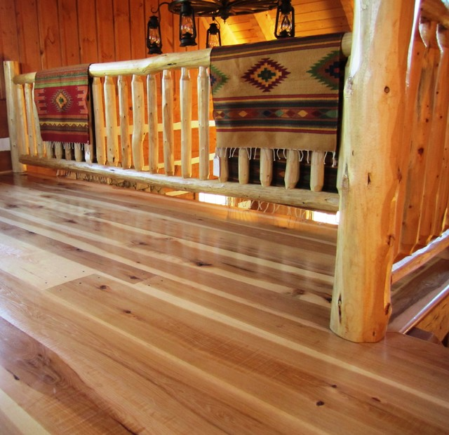 Hickory Wide Plank Floors rustic-hardwood-flooring