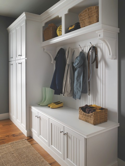 home entrance cabinet - traditional - hall - cincinnati -