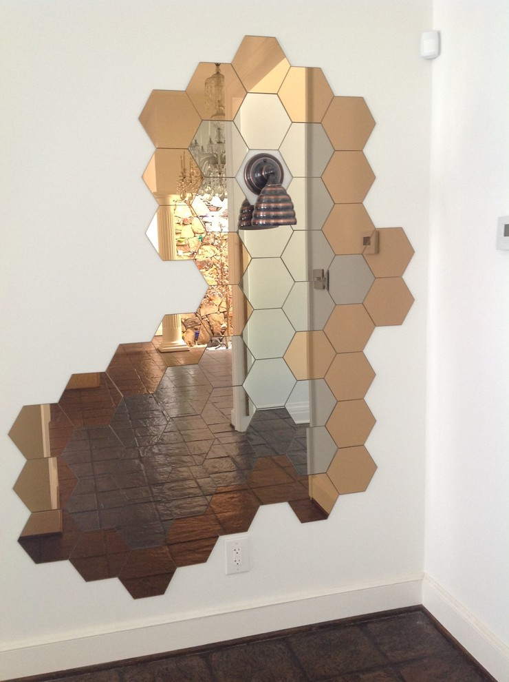 Honeycomb Mirror Beehive Wall Sconce, File Hive Basement Systems