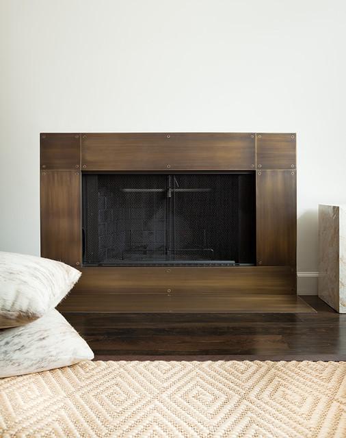 Hudson Fireplace modern-hall
