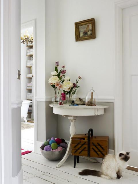 Wohnzimmer Ideen Pastell: Kreative Wandgestaltung Wischtechnik ... Shabby Chic Einrichtungsstil London