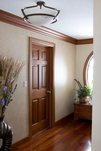 Interior door cherry 6 panel solid wood traditional hall other metro by homestead Solid wood six panel interior doors
