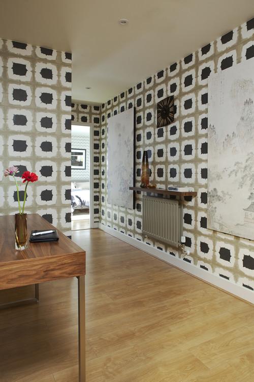 北欧風の壁紙を使ったアパート