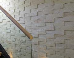 Island Stone Sandstone Mint Large VTile Wall modern-hall