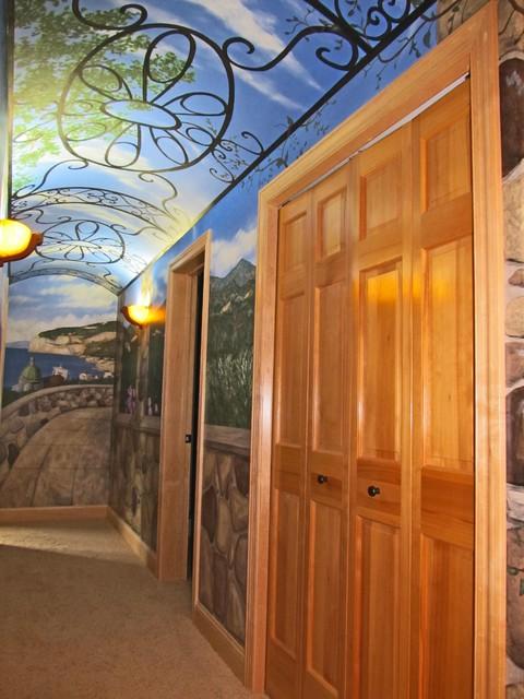 Italian Hallway Mural mediterranean-hall