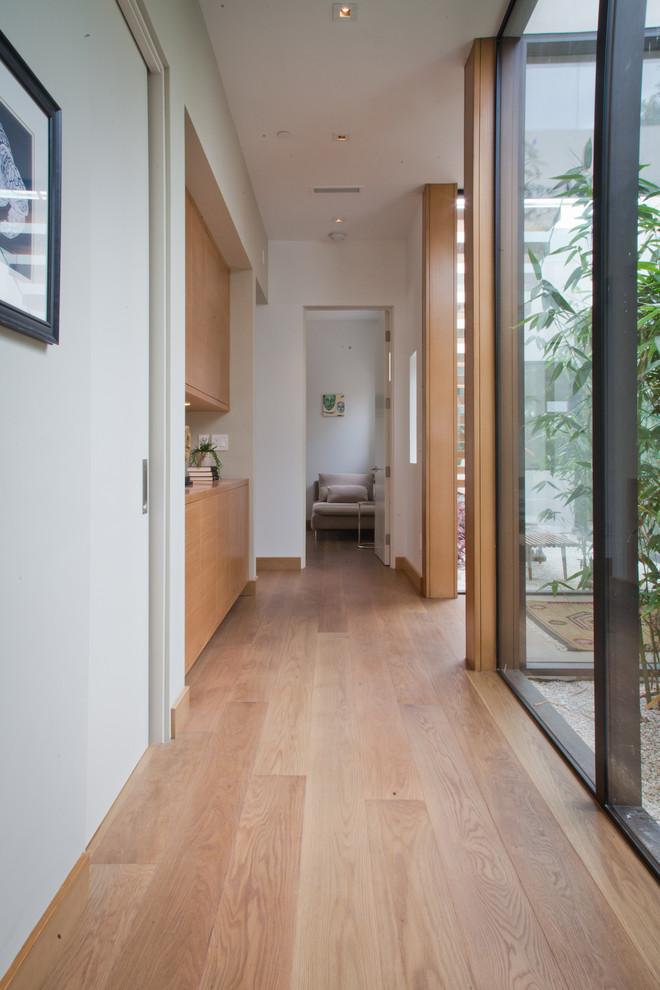 Hallway - contemporary hallway idea in Los Angeles