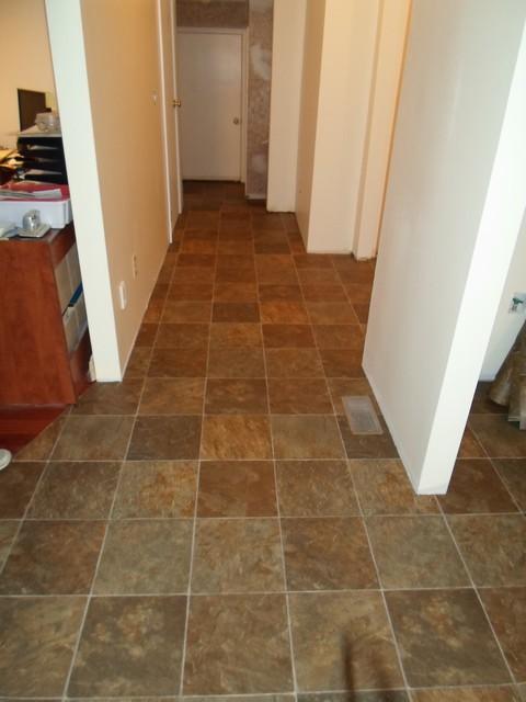 kitchen sheet vinyl tile look tarkett   traditional   hall