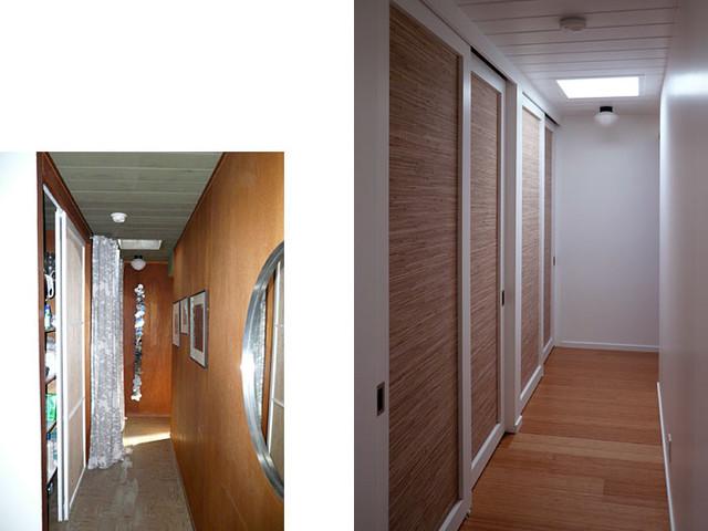 Klopf architecture - Hallway midcentury-hall