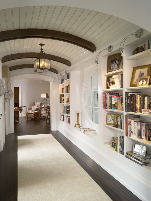 traditional hall Use Your Hallway as Storage Space