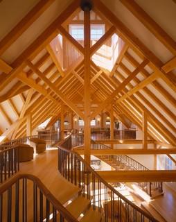 Lakeside Luxury Timber Frame - Farmhouse - Hall - Portland Maine