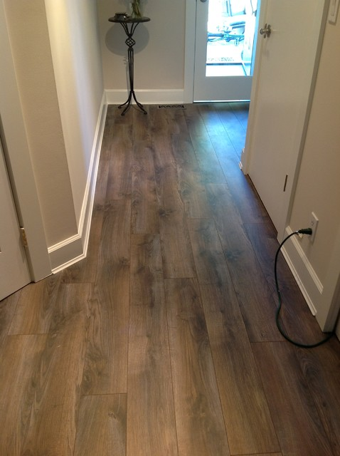 Laminate in north vancouver traditional hall for Laurentian laminate flooring