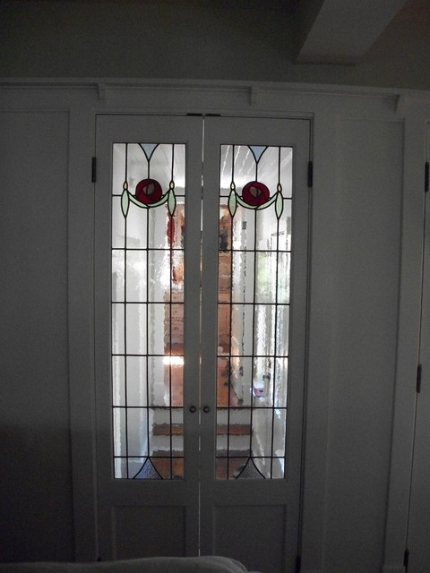 Leaded Glass Door Inserts - Traditional - Hall - toronto - by Glassworks Studio, Toronto CANADA