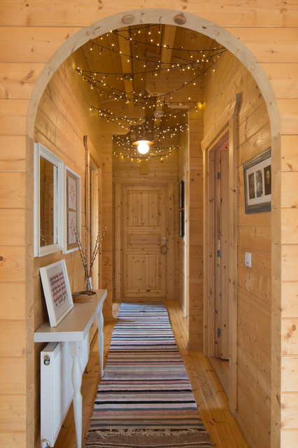 Log Cabin Hallway Rustic Hall Buckinghamshire By