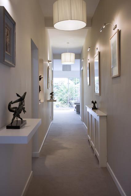 lighting for hallways and landings. Long Hall Contemporary-hallway-and-landing Lighting For Hallways And Landings
