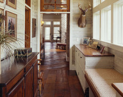 lowcountry river house farmhouse-hall