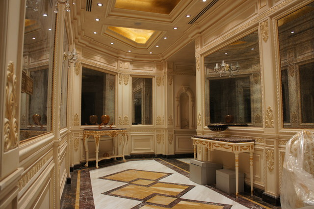 Luxury Marble Floor Design In Hall Way