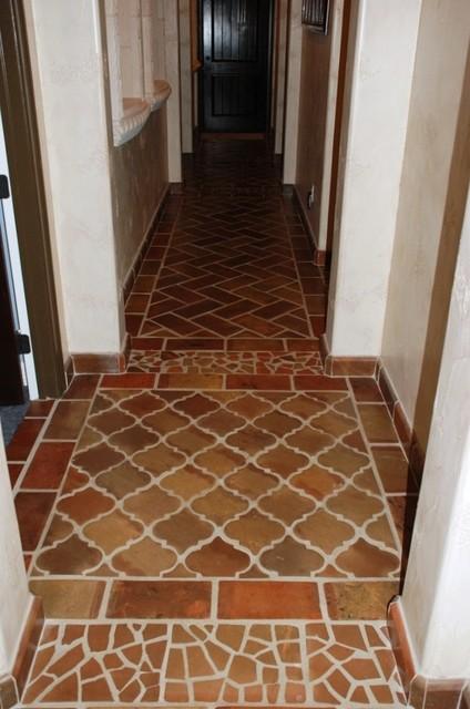 Manganese Saltillo Terracotta Floor Tile Traditional