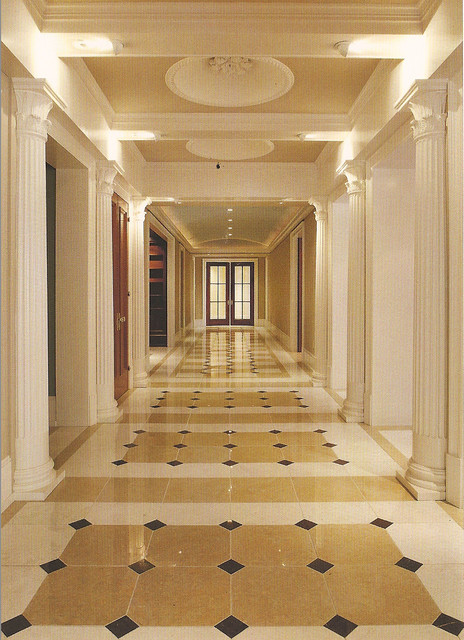 Marble Floor Grand Hallway Traditional Hall