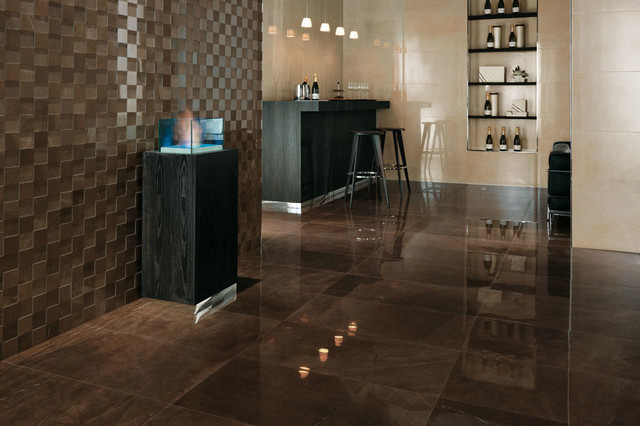 Marvel Premium Italian Marble Look Porcelain Tiles Contemporary Hall Auckland By Tile