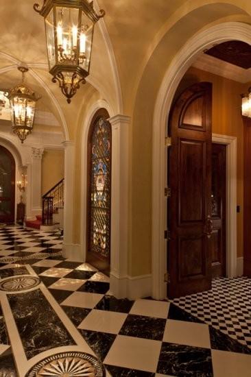 Grand Hall Foyer : Maryland estate grand foyer