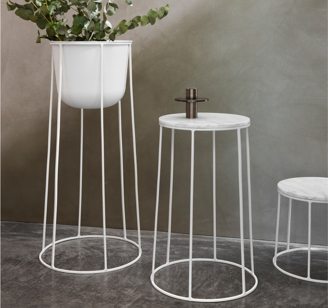 Menu wire series side table white contemporary hallway landing menu wire series side table white contemporary hallway and landing keyboard keysfo
