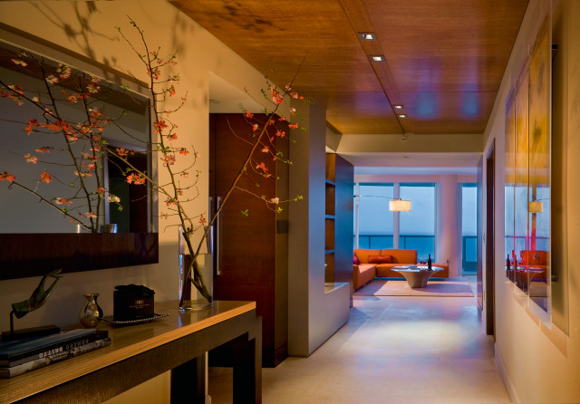 MIAMI BEACH OCEANFRONT RESIDENCE contemporary-hall