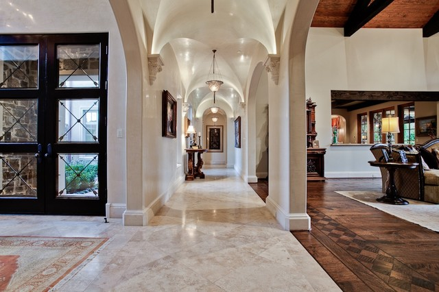 Michael molthan luxury homes interior design group mediterranean hall dallas by michael Interior design ideas luxury homes