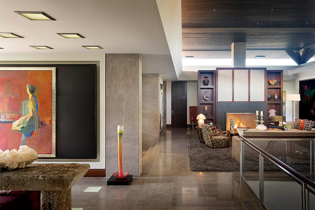 Modern Desert Home Contemporary Hall Orange County