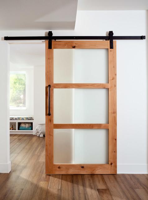 Hallway - transitional hallway idea in Denver