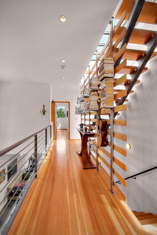 βιβλιοθήκη ως κιγκλιδώμα σκάλας