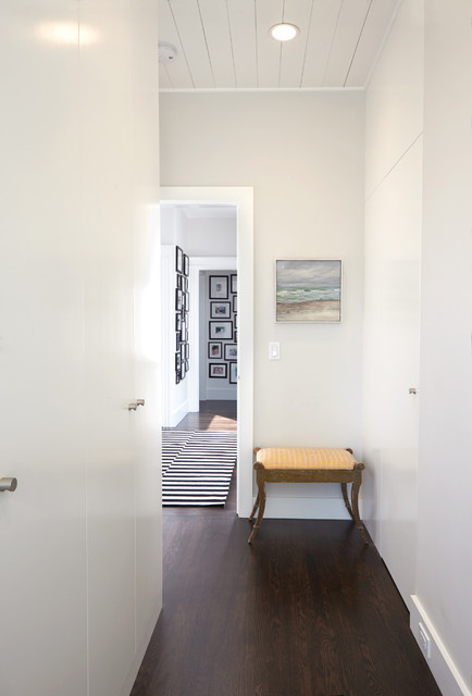 Modern Hallway & Hidden Closet Doors - contemporary - hall - san ...