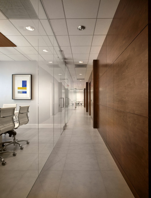 Modern office space contemporary hall miami by for Office design houzz